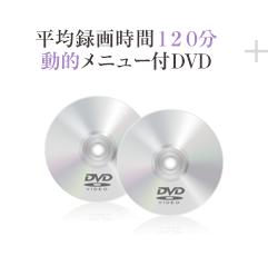 平均録画時間120分、動的メニュー付DVD
